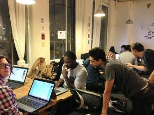 Tech Jam at Hub Islington - you can't see me but I'm in the far left back corner